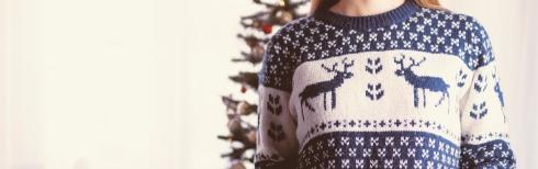Imagen navideña de un jersey