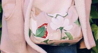 imagen de un bolso tipo patchwork confeccionado por mi