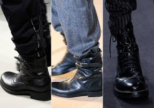 collage de botas militares masculinas