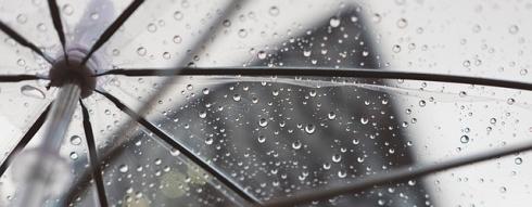 imagen detalle en blanco y negro de un paraguas