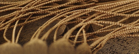 imagen de flecos en color marrón