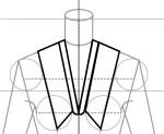 cuello XL con escote en V